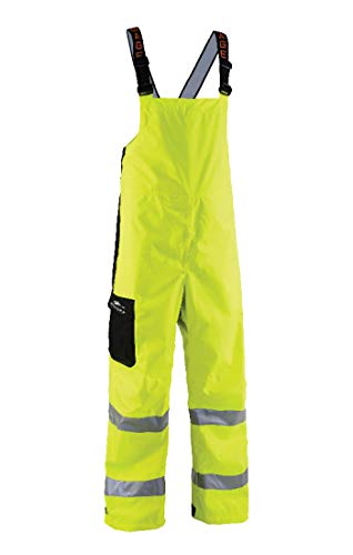 Grundéns Men's Weather Watch Fishing Bib Trousers, Reflective Yellow - Medium