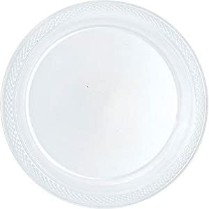 Bulk Round Plastic Plates | 50ct (7 inch Clear)  sc 1 st  Amazon.com & Amazon.com: Bulk Round Plastic Plates | 50ct (7 inch Clear ...