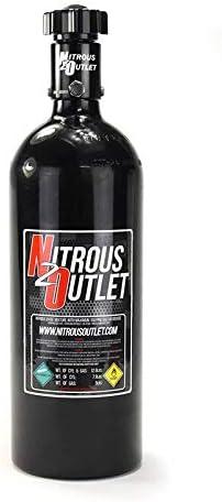 Nitrous Outlet 5 lb Nitrous Bottle /& High Flow Valve