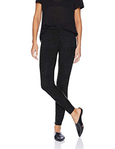Amazon Brand - Daily Ritual Women's Faux 5-Pocket Ponte Knit Legging, Heather Grey Space Dye, Medium Regular