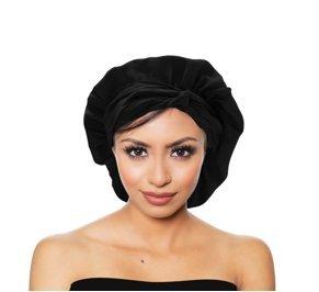 Amazon.com  Lullado Silk Satin Bonnet Large Satin Sleep Bonnet Cap ... 130dcddc8fc