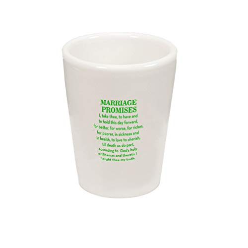 Style In Print Green Marriage Promises I Take Three to Have and to Hold This Day Forward for Better Ceramic Shot Glass Cup -
