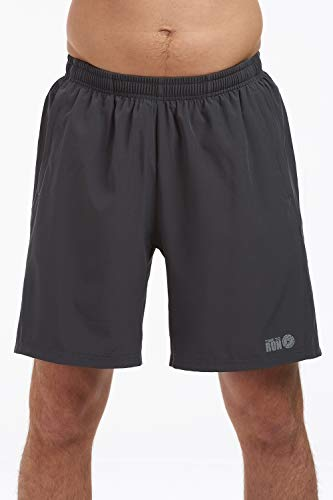 time to run Men's Trail Spirit Quick Dry 7.5 Inch Running/Gym/Training/Athletic/Jogging Shorts with Mesh Liner Rear and Side Zipper Pockets Medium Black