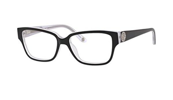 4e7bf2dc50f Amazon.com  Juicy Couture Plastic Rectangular Eyeglasses 52 0JRS Black  White Crystal  Clothing
