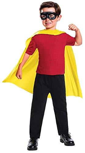 Rubie's Costume Boys DC Comics Robin Cape & Mask Set Costume, One Size