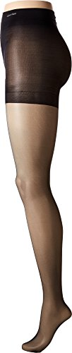 - CK Women's Sheer Stretch Pantyhose with Control Top, Black, Size B