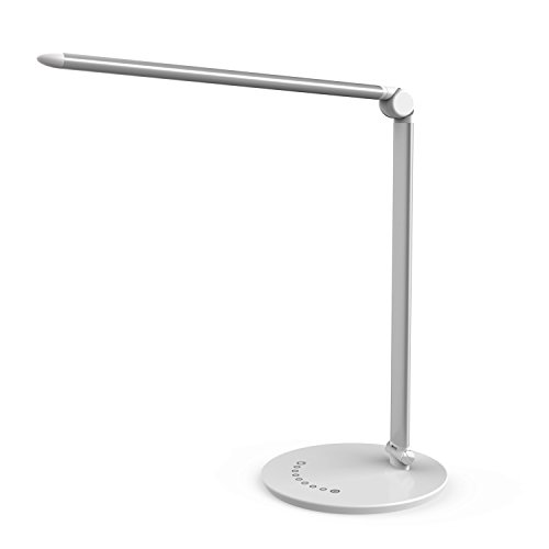 BaPao LED Desk Lamp with USB Charging Port, Eye-Caring Dimmable Table Lamp, Anti-Glare with Touch Control, 7 Unique Color Modes, 7 Brightness Levels & Special Memory Function