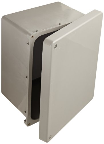 (BUD Industries NF-6612 Fiberglass NEMA Box with Screwed Cover, 9-57/64