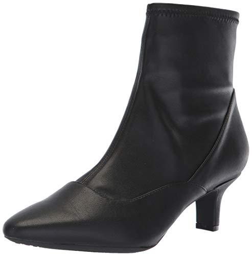 (Rockport Women's Kimly Stretch Bootie Ankle Boot, Black, 7.5 W US)