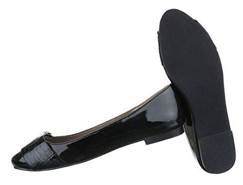 ... Damen Ballerinas Schuhe Loafers Slipper Slip-on Flats Pumps Schwarz 36  37 38 39 40 ... ee2ff5160f