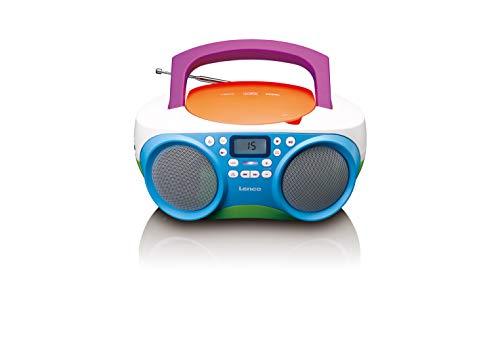 Lenco SCD-41 – CD-speler voor kinderen – CD-radio – stereo-installatie – Boombox – FM-radiotuner – USB-aansluiting – MP3…