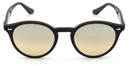 Ray-Ban RB2180 Unisex Round Sunglasses (Brown Frame/Brown Mirror Gradient Lens 62313D, 49)