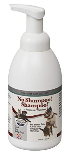 Ark Naturals Gray Muzzle No Shampoo! Shampoo! for Senior Dogs and Cats, Waterless, Rinseless Foam Shampoo, Freshens and Removes Odors, 18 oz Bottle (Bottle 18 Shampoo Oz)