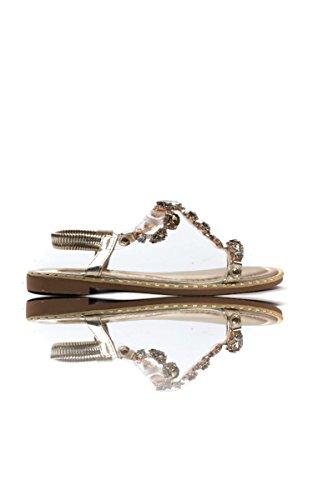 Ikrush Womens Esmi Peep Toe Embellished Sandal Gold Hok1o1aT1Q
