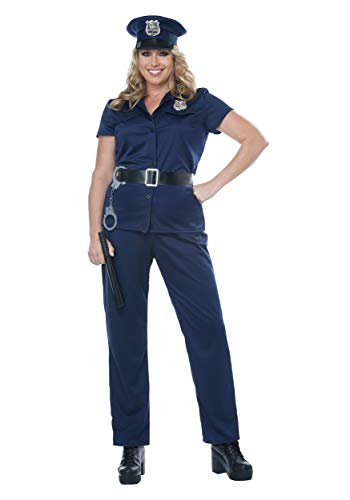 California Costumes Women's Plus-size Police Woman - Adult Plus Costume Adult Costume,  -Navy, 1X-Large -