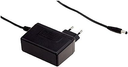 Fuente de alimentación enfichable 25W 24V 1,04A; MeanWell SGA25E24-P1J 5,5/2,1mm