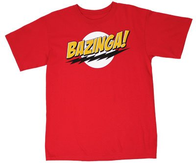 Ripple Junction Big Bang Theory Bazinga Adult T-Shirt