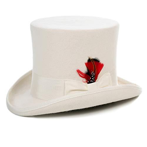 Ferrecci M Premium Off White Top Hat]()