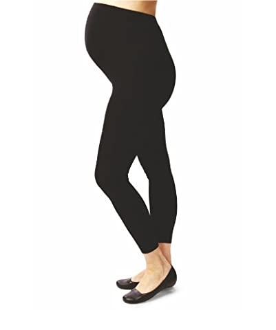 Terramed Maternity Footless Graduated Compression Microfiber Leggings Tights (20-30 mmHg) Firm Support (Small, Black)