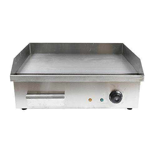 Teppanyaki Frying Machine, Electric Countertop Griddle Cooktop Versatility Bbq Teppanyaki Scoop Machine Flat Top Grill Commercial Restaurant Thermostat