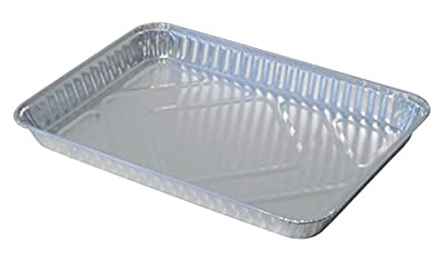 Durable Packaging 1200-45 Disposable Aluminum 1/4-Size Sheet Cake Pan (Pack of 100)