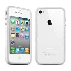 G4GADGET® Iphone 4S/4 Silicon Bumper White/Grey