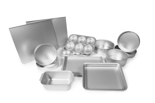 Alan Silverwood Delia Smith Silver Anodised Aluminium Bakeware Full Set - 99624 by Alan Silverwood