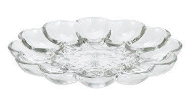 Anchor Hocking 86148 Clear Glass Presense Deviled Egg Plate Home Supply Maintenance - Egg Deviled Plate Glass