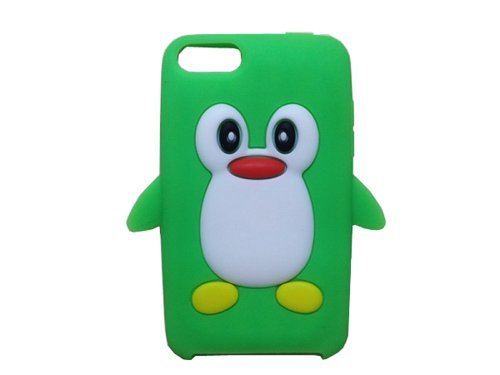 Tsmine for iPod Touch 2nd/3rd Gen Case Cover - Cute 3D Penguin Cartoon Soft Silicone Case Back Cover Protective Skin for Apple iPod Touch 2nd/3rd Gen, Green