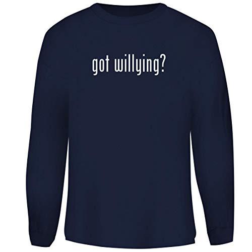 One Legging it Around got Willying? - Men's Funny Soft Adult Crewneck Sweatshirt, Navy, Small
