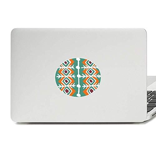 Civilization Sticker - Green Pattern Mexico Totems Ancient Civilization Vinyl Skin Laptop Sticker Notebook Decal