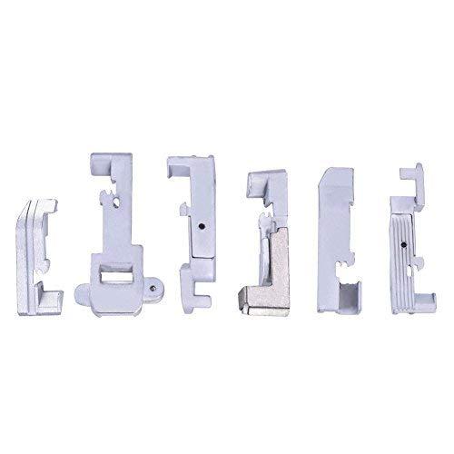 ZealMax 6Pcs Máquina de Coser para el hogar Piezas Prensatelas Máquina de Coser Accesorios Overlock Machine