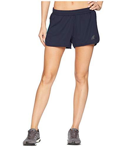 南西バンドル回転する[adidas(アディダス)] レディースショーツ?短パン Ultimate Knit Shorts Legend Ink/Hi-Res Aqua L