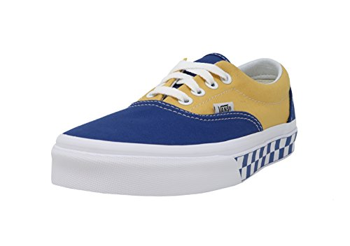 Vans Unisex Era (BMX Checkerboard) True Blue/Yellow VN0A38FRU8I Mens 10.5, Womens (Era Checkerboard)
