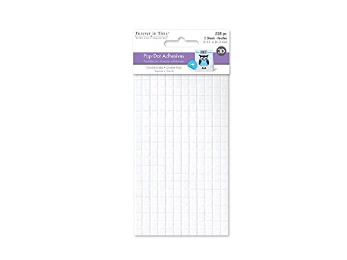 Forever in Time PD108 3D Pop Dots Square Dual-Adhesive Foam Mount, 1/4-Inch, 528 Per Package