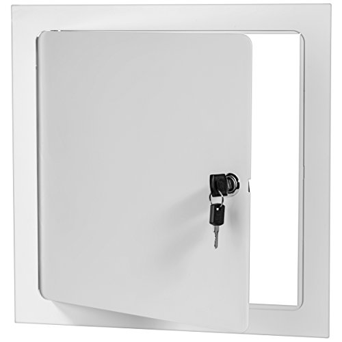 Premier 5000 Series Commercial Grade Steel Access Door, 18 x 18 Flush Universal Mount, White (Keyed Cylinder Latch) by Premier Access Doors