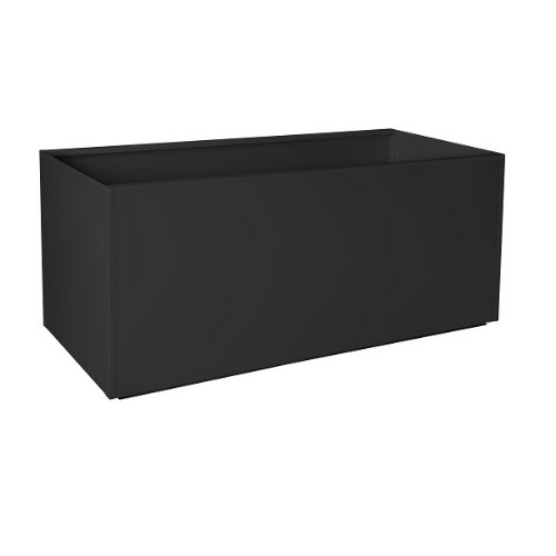 Nice Planter Aluminum Trough Planter, 16'' x 46'', Black by Nice Planter