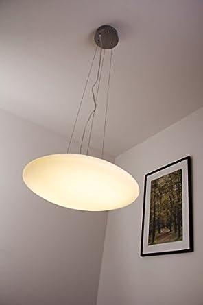 Lampadario a sospensione led 24 watt design moderno: amazon.it ...