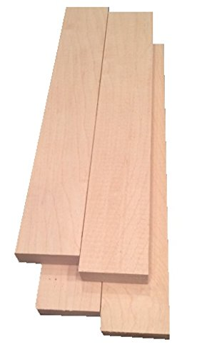 "Hard Maple Lumber 3/4""x2""x12"" - 4 Pack"