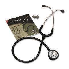3M 2201 Littman Classic II S.E. Stethoscope, 28'' Length, Black Tube by 3M