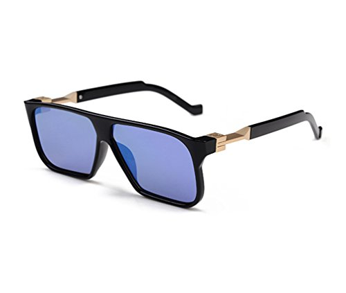 Tansle Cool Sunglasses For Man Big Frame Mirror Color Lens Hollywood Stars Favorite (Stars Home Frame Color)