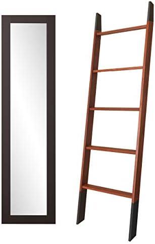 BrandtWorks Juego de 2 Piezas de 6 pies – Escalera de Manta y Espejo de Piso Delgado: Amazon.es: Hogar