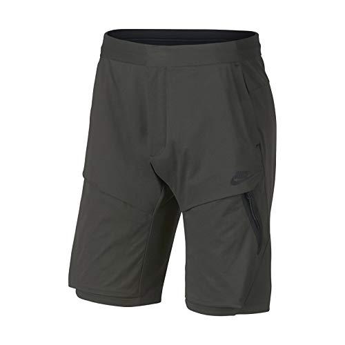(NIKE Sportswear Mens Tech Pack Woven Shorts Newsprint/Black 928617-001 (34))