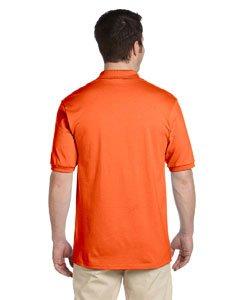 Jerzees Men's Spot Shield Short Sleeve Polo Sport Shirt, Safety Orange, Medium