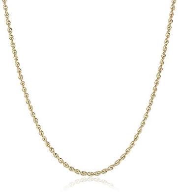 "Pori Jewelers 14K Gold 2.5MM Diamond Cut Rope Chain Necklace Unisex Sizes 18""-30"""