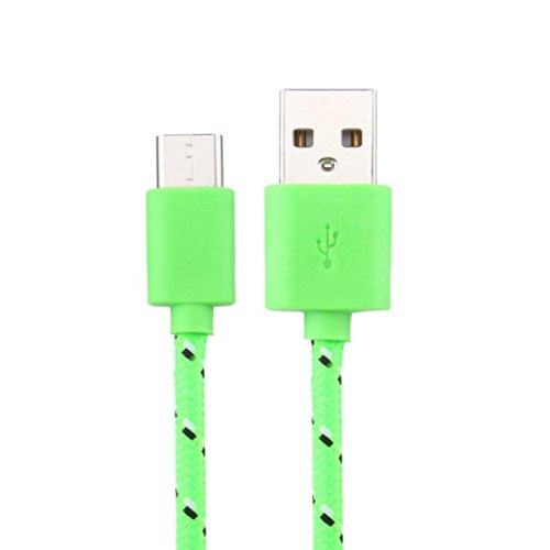 Price comparison product image 1M Charging Cable,Muxika USB-C USB 3.1 Type C Data Charge Cable for Cell Phone (Green)