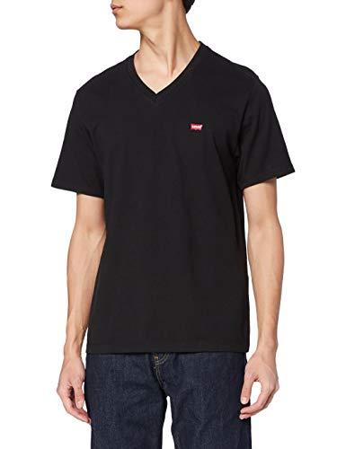 Levi's Orig Hm Vneck Camiseta, Negro (Mineral Black 0001), X-Large para Hombre