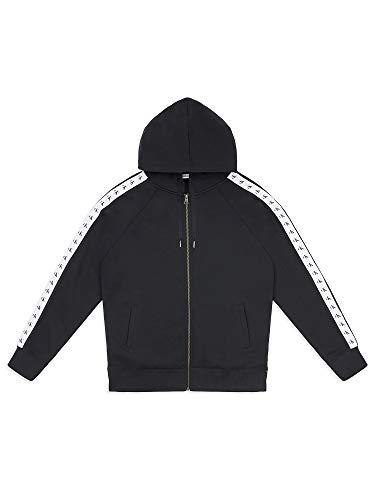 Calvin Klein Jeans Men's Monogram Tape Zip Hoodie, Black, L