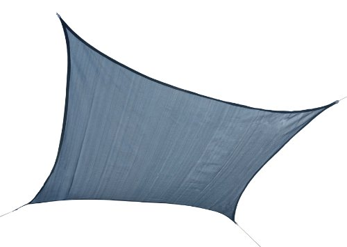 ShelterLogic 25736 16'x16′ Square Sea Sun Shade Sail, Outdoor Stuffs