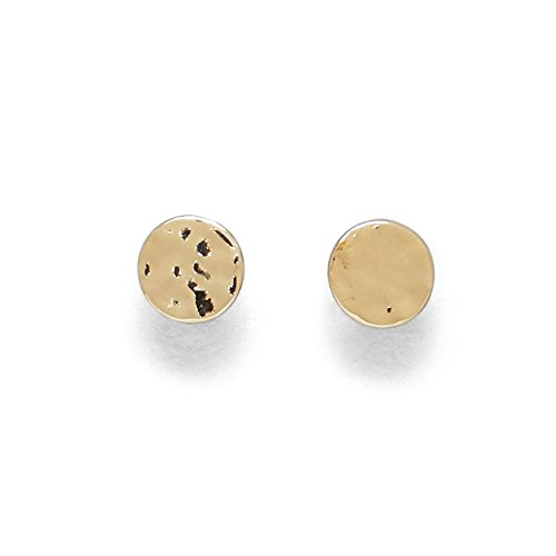 (Kenneth Cole New York Gold-Plated Hammered Disc Earrings)